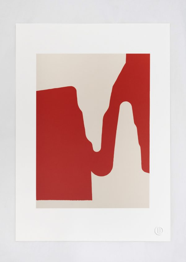 Bryan Reedy, Untitled (morphological prototype project — constricted derivative [red, inverse])